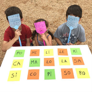 plantilla descargar e imprimir juego de pillar palabras consiencia fonologica lectoescritura