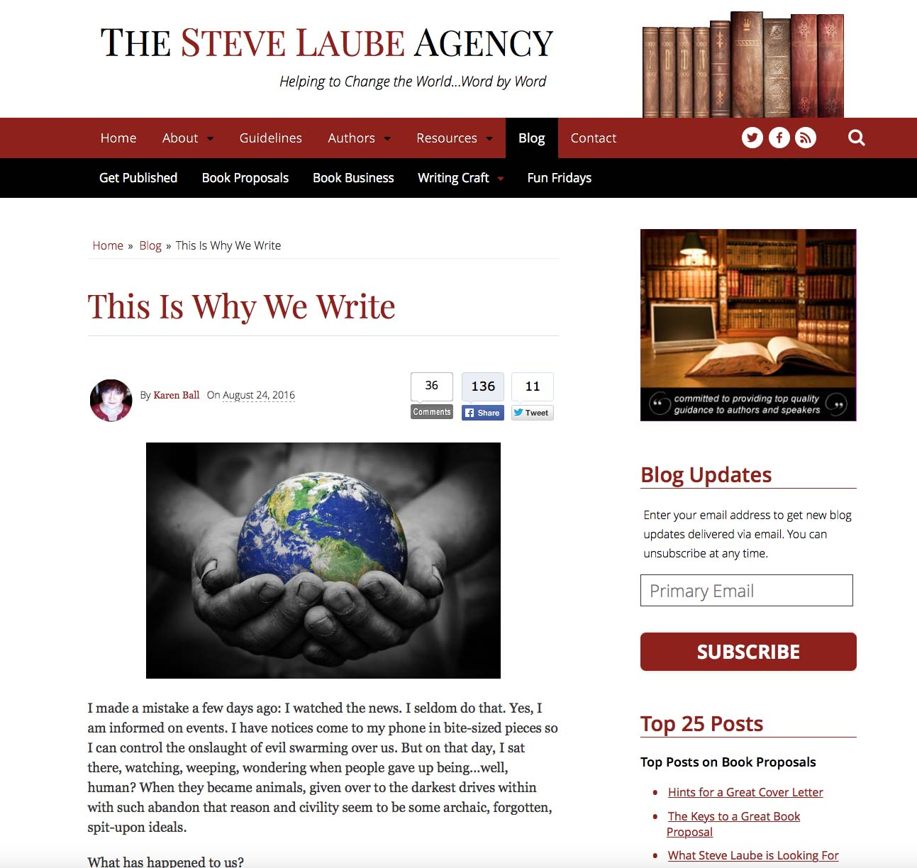 Come visit me at the Steve Laube Agency blog and at www.writefromthedeep.com!