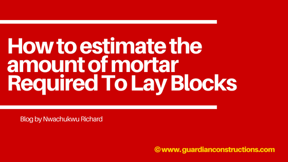 materials for mortar Required To Lay Blocks