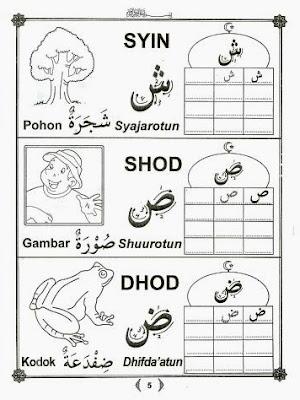 Belajar Menulis Huruf Hijaiyah Raa Mewarnai Gambar