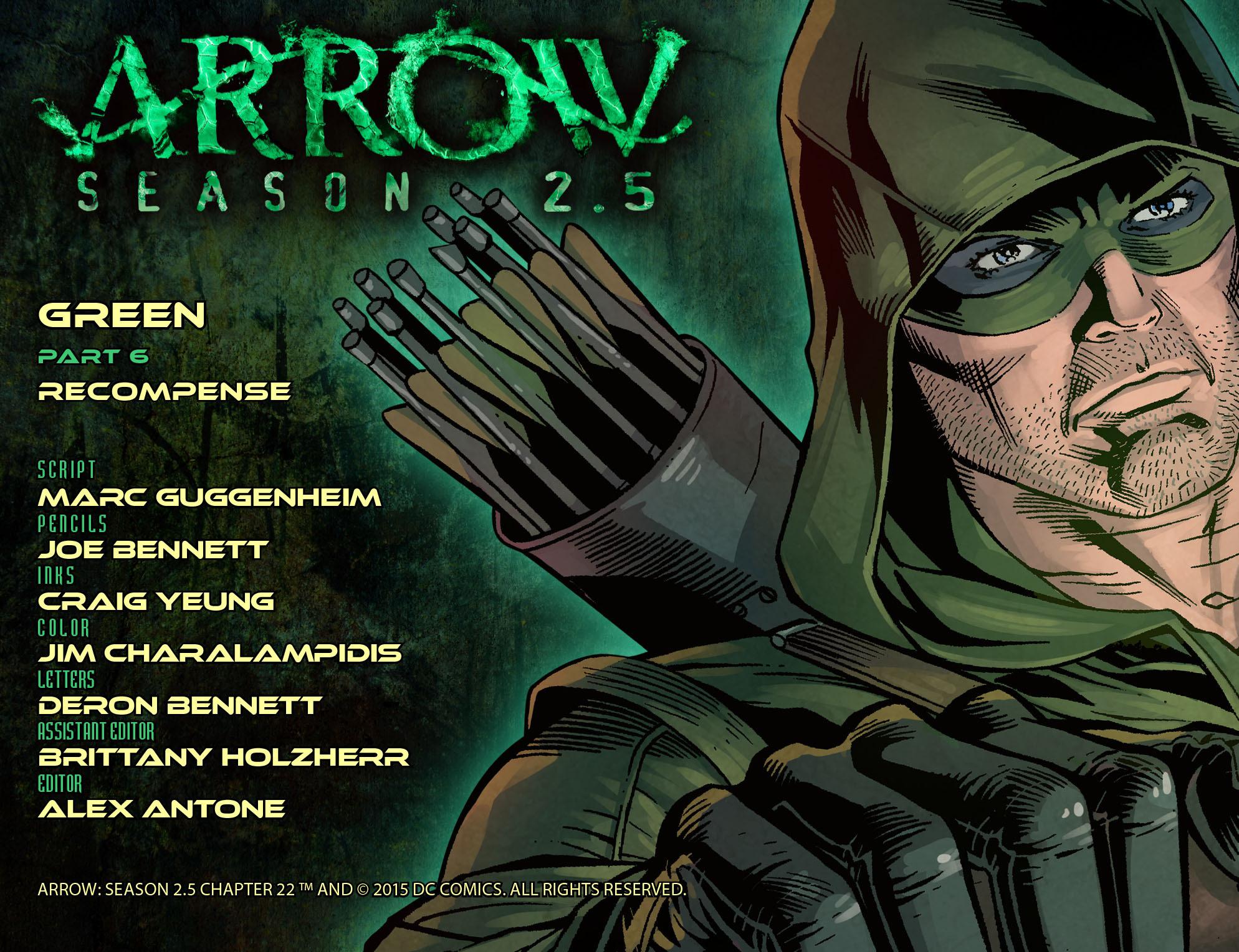 Read online Arrow: Season 2.5 [I] comic -  Issue #22 - 2
