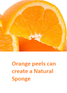 Orange peels can create a Natural Sponge - Oranges citrus fruit peel (Santre Ke Chilke)
