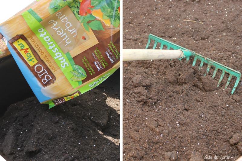 Descompactar el sustrato antes de plantar