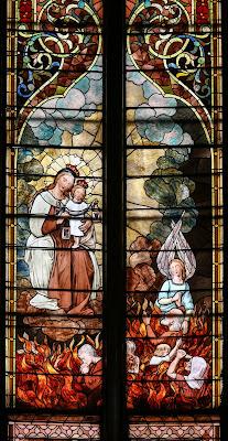 Imagem de Nossa Senhora do Carmo, vitral, #2