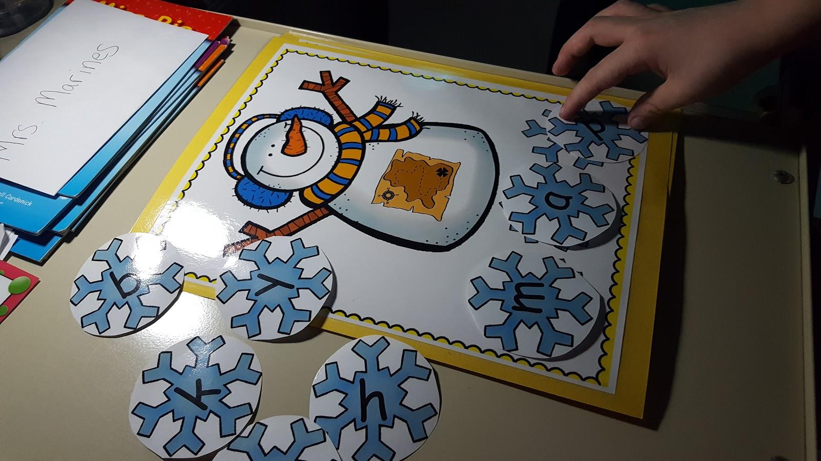 Teach Magically Snowmen Segmenting With Phonics