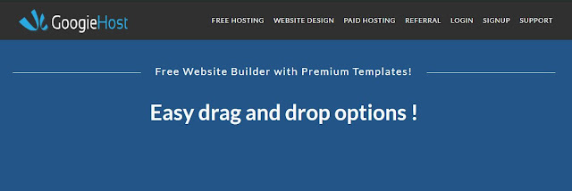 WordPress Alternatives CMS, googiehost free website builder