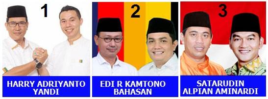 Tiga pasang calon walikota dan wakil walikota Pontianak 2018