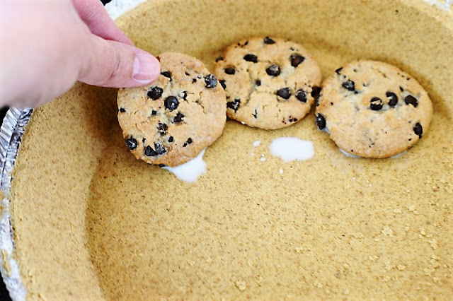 How to Make No-Bake Chocolate Chip Cookie Pie image