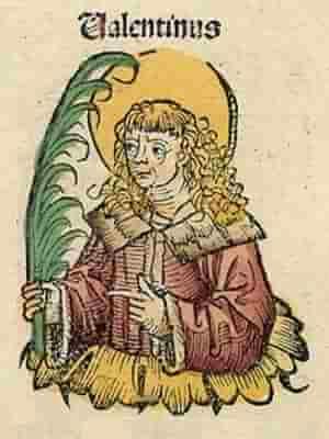 «Святой Валентин» Минитатюра из Нюрнбергской хроники