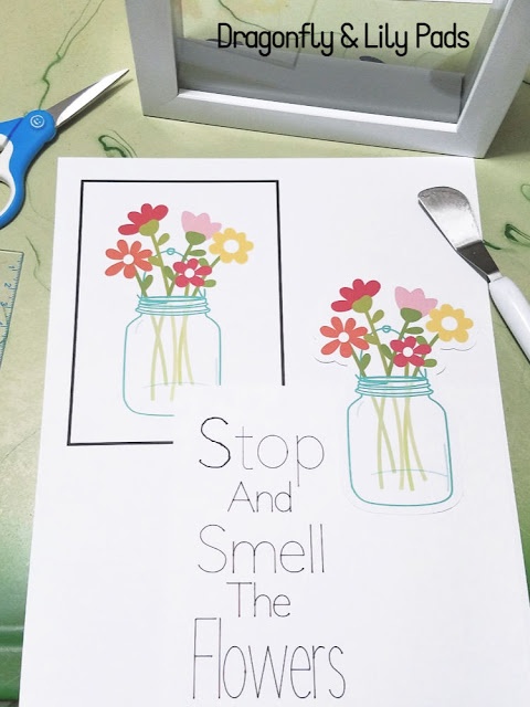 Some ot the Supplies used to make a fast 3D Art Decor with your Cricut Maker