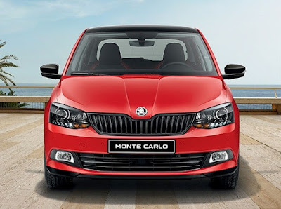New 2017 Skoda Rapid Monte Carlo front Hd Wallpaper