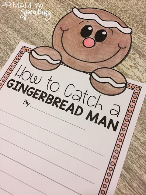 Gingerbread Man Writing Freebie