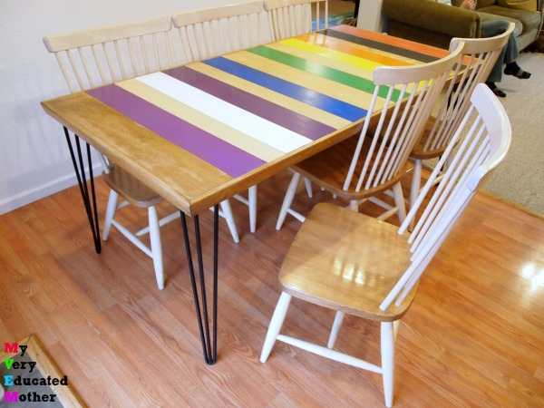 Even if they have a shine, this is the easiest way to paint your chairs.