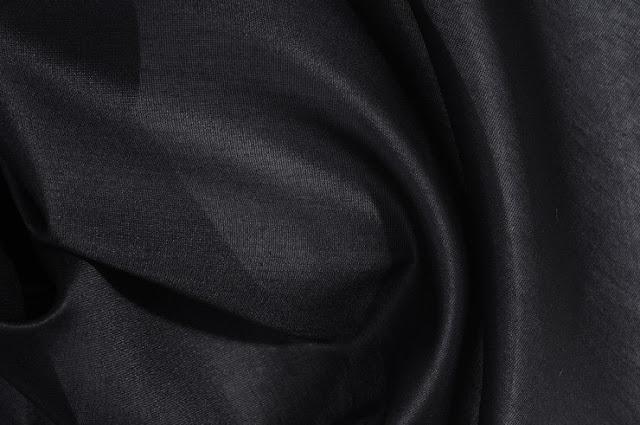 Black Cotton Silk Fabric