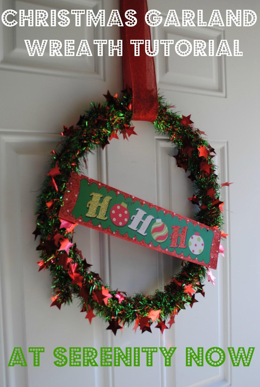 Serenity Now: Christmas Tinsel Garland Wreath (Dollar Tree ...