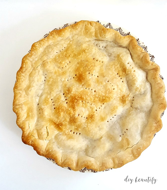 I'm sharing my mom's 40-year recipe for the perfect apple pie! It's tried and true and everyone loves it. You can find the recipe and instructions at diy beautify!