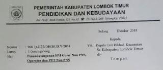 Tanda Tangan SPJ Triwulan III Guru Non PNS, Operator dan PTT Non PNS