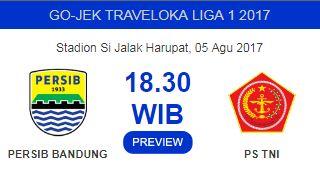 Persib Bandung Jamu PS TNI di Stadion Si Jalak Harupat 5 Agustus 2017 Tanpa Bobotoh