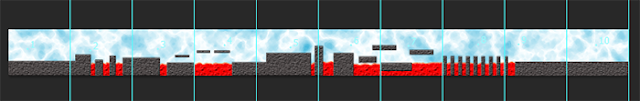 The level graphics for a 2d side scroller game