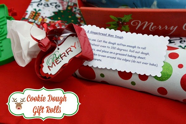 mommys kitchen recipes from my texas kitchen cookie dough gift rolls diy christmas gift idea - Christmas Cookie Gift Ideas
