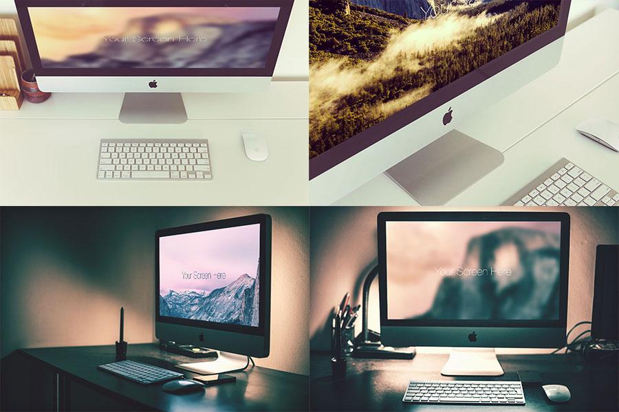 Photorealistic iMac Mockup Set