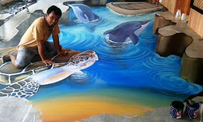 3D floor painting art 3D epoxy flooring designs