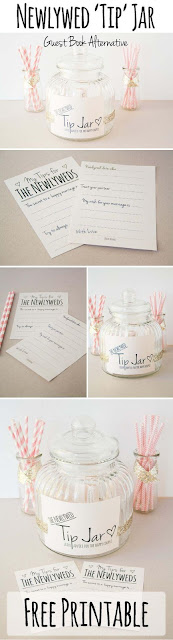 Newly Wed Tip Jar Guest Book Alternative