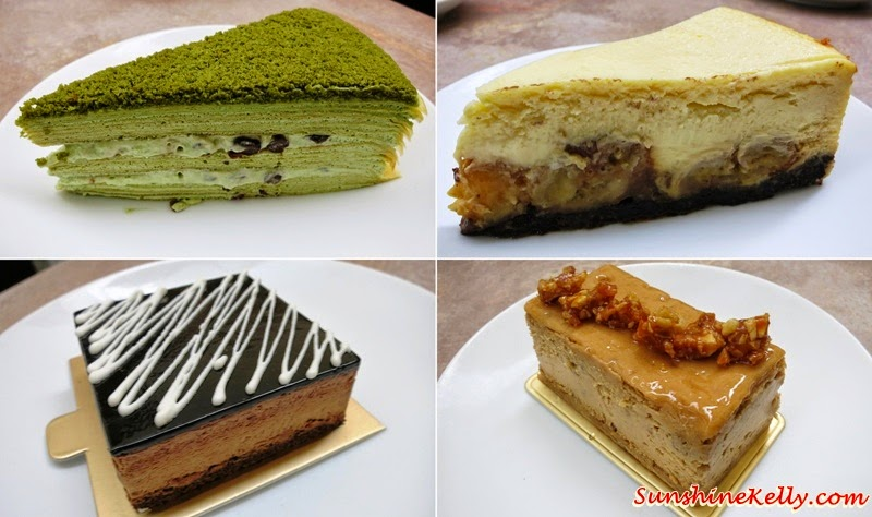 Caramel Nut Cheesecake, Banana Butterscotch Cheesecake, Chocolate  Mousse Cake, Uji Matcha Red Bean Mille Crepe, WA Café, Pavilion KL, Coffee, coffee art, Cakes, Cafe, Magic, Affogato, Latte Art,