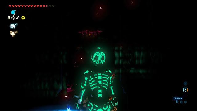 The Legend of Zelda Breath of the Wild Radiant set mask shirt tights glow in the dark skeleton