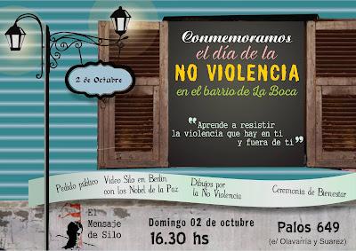 Semana de la No- Violencia con niños en el Barrio de La Boca, Buenos Aires