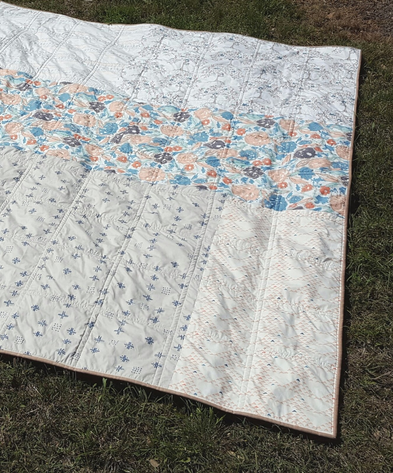 Fabric Mutt Bountiful Four Patch Quilt