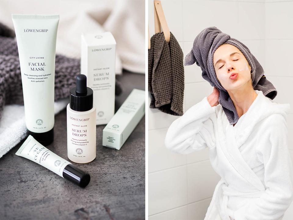 skincare-routine-löwengrip-face-mask-glow-serum-eye-cream-cocopanda-ihonhoito-kauneudenhoito-kasvonaamio-kasvoseerumi-silmänympärysvoide