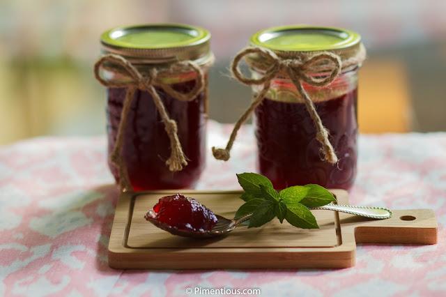 Raspberry Basil Jam