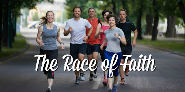 Hebrews 12:1 gives us wisdom about running our race of faith. This 1-minute devotion explains. #BibleLoveNotes #Bible
