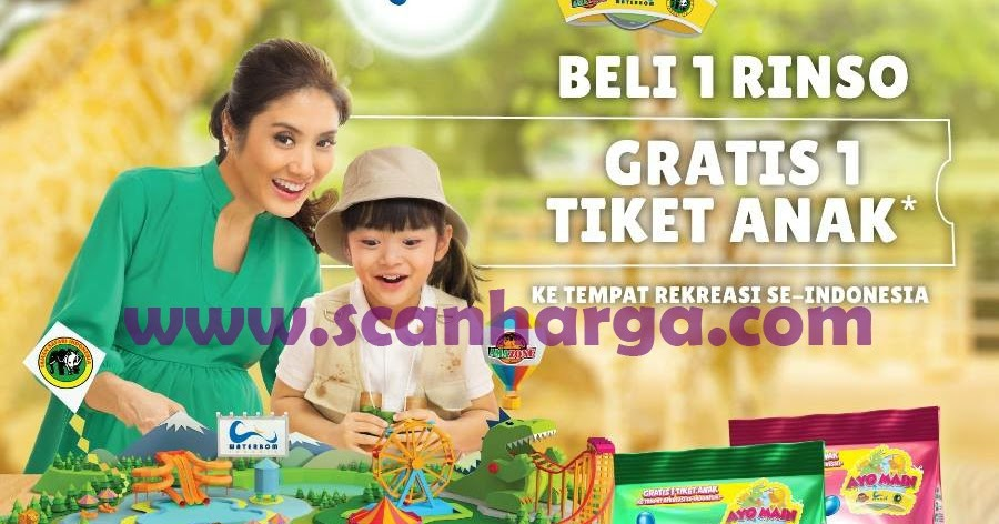 Promo GIANT | Promo Beli 1 Rinso Gratis 1 Tiket Anak