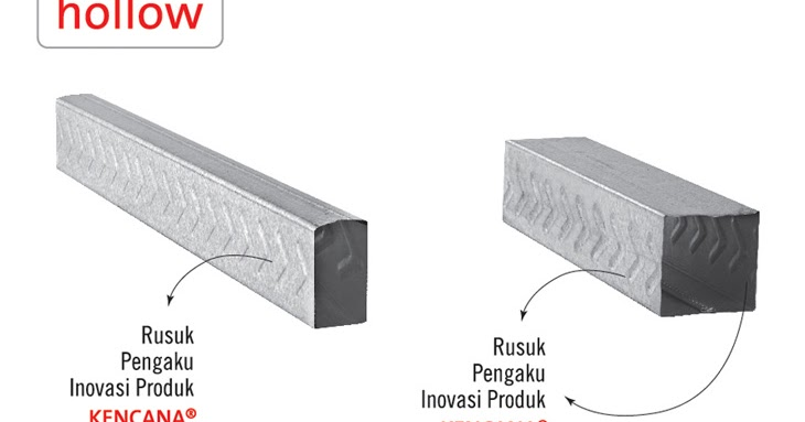 distributor baja ringan kencana macam-macam mode hollow untuk plafon gypsum atau kalsiboard