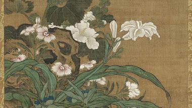Flores de primavera con pintura china