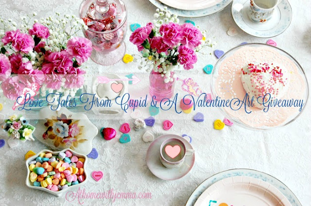 Valentine-table-conversation hearts-cake-tablesetting-jemma