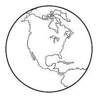 כדור הארץ יבשות לצביעה