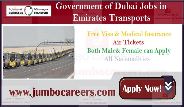 Recruitment to Dubai for Emirates Transport Company, Current vacancies in Dubai,