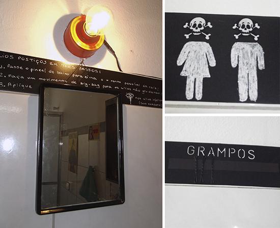 decoracao alternativa, banheiro decorado, espelho maquiagem, banheiro, contact, bathroom, tinta lousa