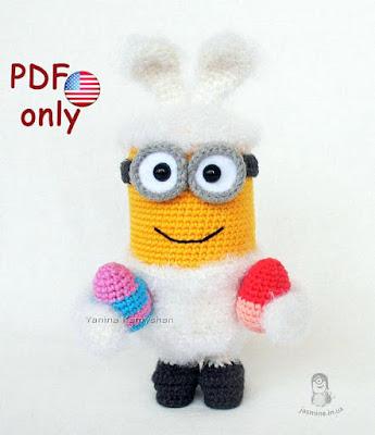 amigurumi crochet Easter Bunny minion