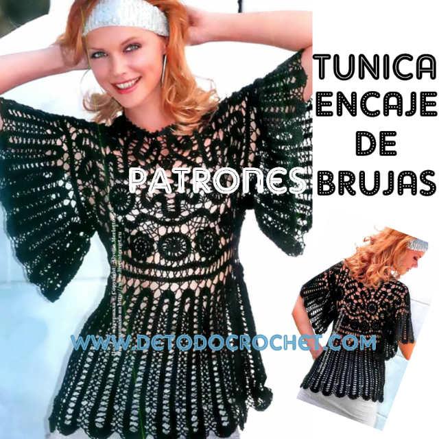 tunica encaje de brujas patrones crochet