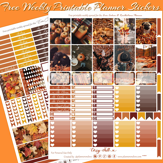 Planner Onelove: Free Hello September Printable Planner Stickers For The EC & Recollections Planner