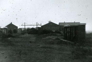 Trackbed across Stokes Bay beach 1957