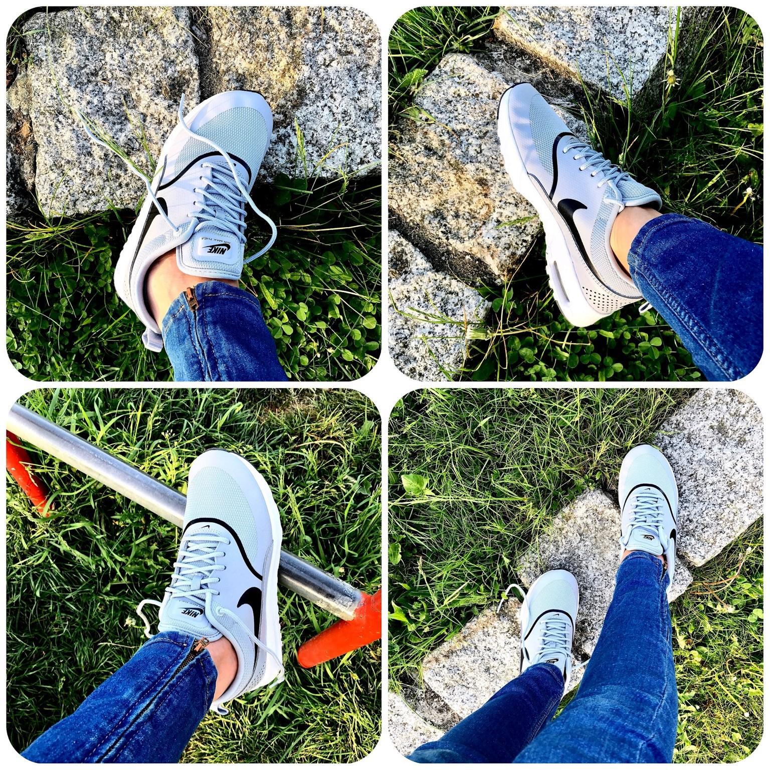zdjęcie przedstawiające damskie Nike Air Max Thea Wolf Grey/black