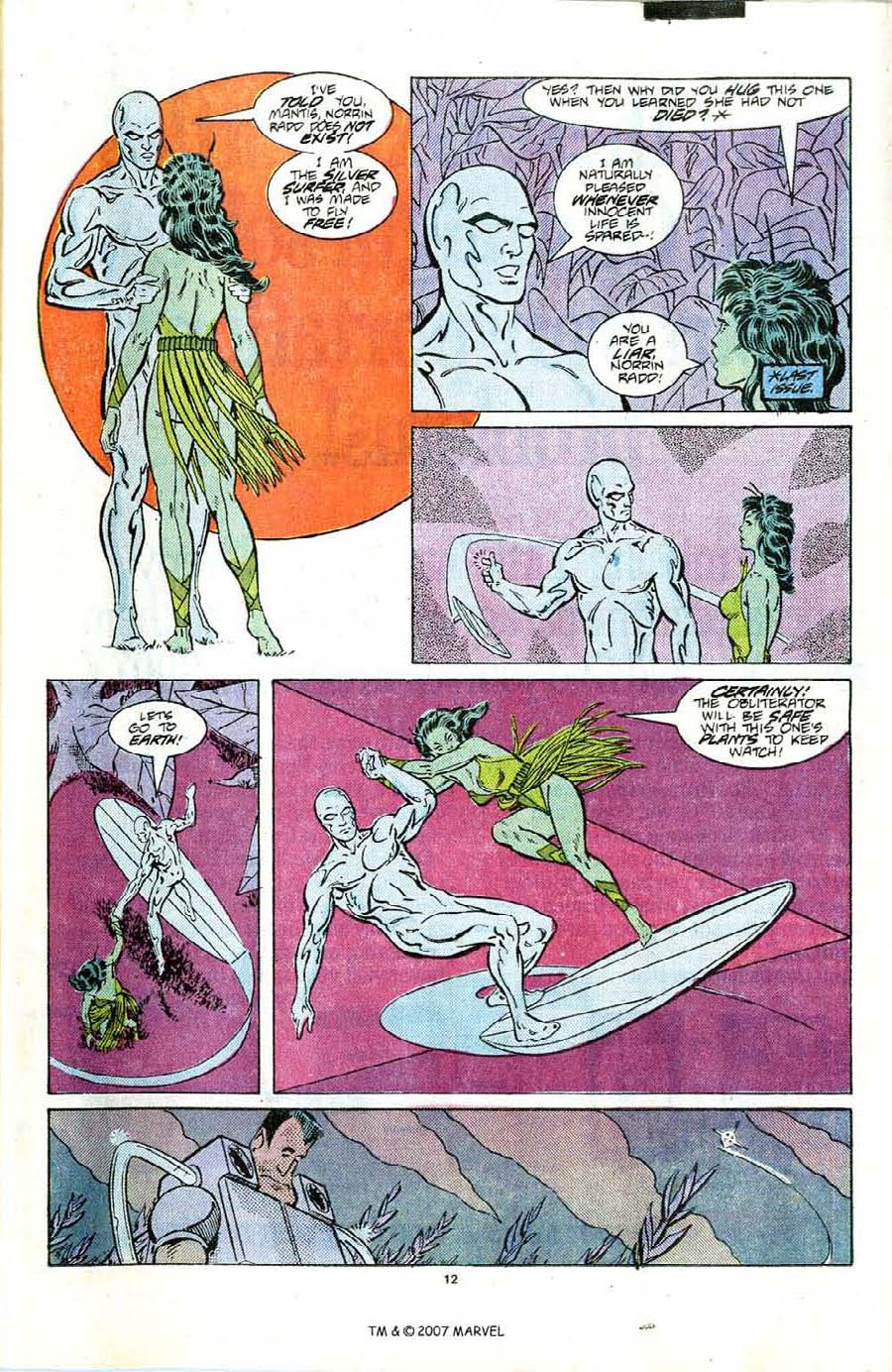 Read online Silver Surfer (1987) comic -  Issue #6 - 17