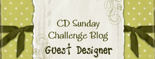 So happy to be GDT For CD Sunday :-)