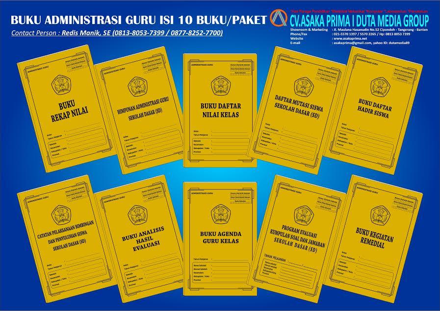 Buku Administrasi Sd Terlengkap Buku Administrasi Guru Kelas Sd Mi Alat Peraga Edukatif