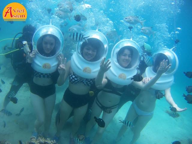 Tour Đi Bộ Dưới Biển kết hợp tour 4 đảo
